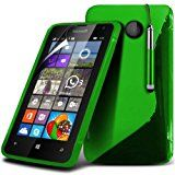 Microsoft Lumia 435 S-Line Wave Gel Case Cover (Green) Plus Free Gift, Screen Protector and a Stylus Pen, Order Now Best Valued Phone Case on Amazon! By FinestPhoneCases