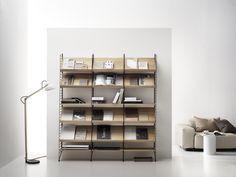 Living room combination for the bold one⭐ Traditional Bookshelves, String System, String Shelf, Shelving Solutions, Modular Shelving, Glass Cabinet Doors, Built In Shelves, Build Shelves, Book Shelves