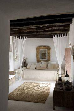 Spanish breezy white bedroom