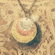Hand Stamped Jewelry from Treasured Trinkets