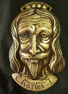 KING Charles The First Brass Door Knocker - For sale on Ruby Lane