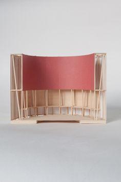 The Tin Chapel (London) - Roz Barr Architects Tv Set Design, Stage Design, Design Model, Architecture Model Making, Architecture Design, Temporary Architecture, Arch Model, Exhibition Display, Scenic Design
