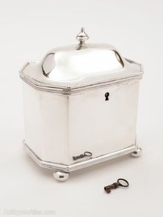 Antiques Atlas - Victorian Silver Plated Tea Caddy, Circa 1840