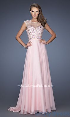 Backless Beaded Prom Gown by La Femme at SimplyDresses.com