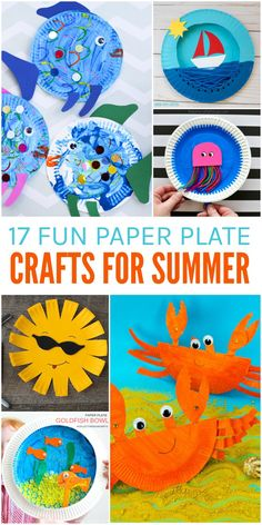 17 Fun Paper Plate Crafts for Summer When it's too hot to go out a craft can be the perfect boredom buster. Try one of these 17 Fun Summer Crafts using Paper Plates! The post 17 Fun Paper Plate Crafts for Summer appeared first on Summer Diy. Paper Plate Crafts For Kids, Easy Crafts For Kids, Craft Activities For Kids, Toddler Crafts, Paper Crafts, Summer Crafts For Preschoolers, Yarn Crafts, Fish Crafts, Fun Diy Crafts