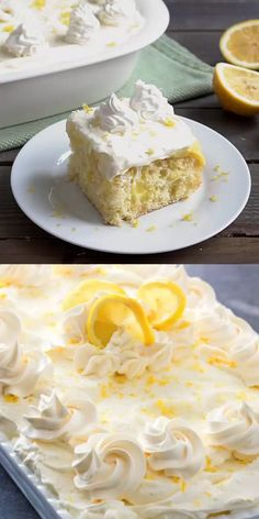 Delight lemon lovers with this Lemon Burst Poke Cake slathered with lemon pudding then topped with a dreamy homemade whipped lemon cream cheese frosting. Poke Cake Recipes, Poke Cakes, Cupcake Cakes, Dessert Recipes, Easter Recipes, Cupcakes, Lemon Desserts, Lemon Recipes, Just Desserts