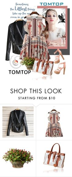 """TOMTOP+12"" by carola-corana ❤ liked on Polyvore featuring OKA, Charlotte Russe, vintage, tomtop and tomtopstyle"