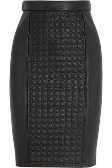 Roberto Cavalli Quilted stretch-leather skirt | NET-A-PORTER