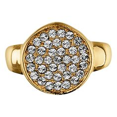 Buy Dyrberg/Kern Reina Gold Plated Crystal Ring, Yellow Gold, I Online at johnlewis.com