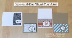 Quick-and-Easy Thank You Notes, Stampin' Up!, Brian King