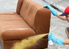 Dipingere un divano con lo spray spiegato passo dopo passo con accorgimenti molto utili affinchè il lavoro venga perfetto