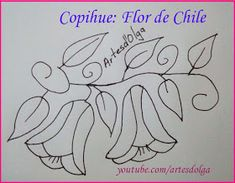 Artesd'Olga: Flor de Chile bordada a mano - Copihue | Chilean Bellflower | Artesd'Olga