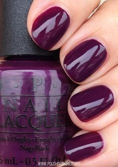 OPI fall nail polish color Skating on Thin Iceland. Gorgeous aubergine color.?