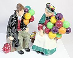 Royal Doulton Balloon Man & The Old Balloon Selle