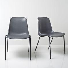 Chaise vintage empilable lot de 2 Janik