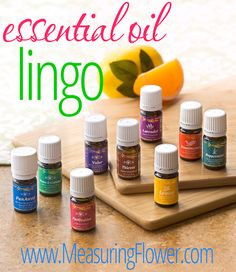 Discover essential oil lingo with terms and definitions.