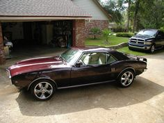 68 Firebird in Black Cherry; my first car was a 68 firebird similar to this one!
