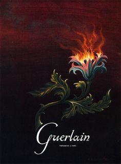 Publicité du parfum Guerlain(1950) de Guerlain