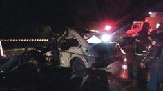 ACIDENTE:Dois morto na colisão de carro e ambulância no RS