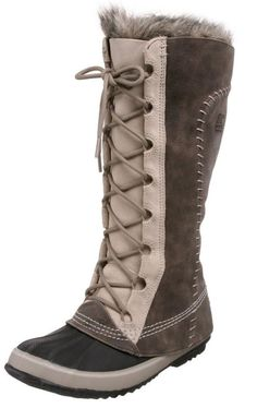 Sorel Cate The Great Tusk Fur Lined Lace Up Knee High Duck Boot Waterproof | eBay