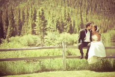 #cupcakedreamwedding  Gotta do this since the groom is a mountain man   Mountain wedding. Rustic fence.