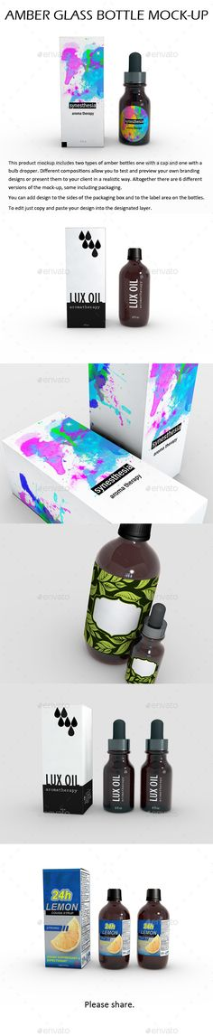Amber Glass Bottle MockUp — Photoshop PSD #dropper #body care • Available here → https://graphicriver.net/item/amber-glass-bottle-mockup/15200645?ref=pxcr