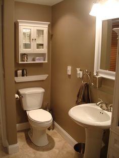Bathroom remodel colors small bathroom remodels on a budget bathroom Hall Bathroom, Budget Bathroom, Bathroom Interior, Bathroom Remodeling, Bathroom Ideas, Bad Inspiration, Bathroom Inspiration, Powder Room Decor, Bathroom Paint Colors