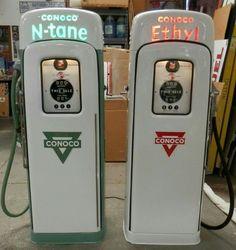 2 Beautiful Restored Original Conoco Gas Pumps!