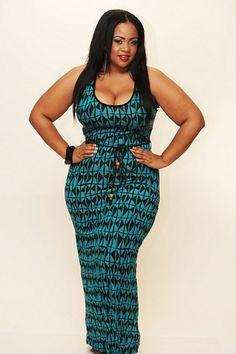 blackandkillingit: plussizeebony: New Plus Size Aztec Print Turquoise Black Maxi Dress Black Girls Killing It Shop BGKI NOW Curvy Girl Fashion, Plus Size Fashion, Plus Size Dresses, Plus Size Outfits, Sexy, Plus Size Beauty, Black Maxi, Dress Black, Black Models