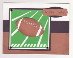 Football Game Invites by scrapbookevie - Cards and Paper Crafts at Splitcoaststampers