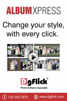 #AlbumXpress by #DgFlick allows you to go through thousands of template with a click of a button. A new template on every click. Get a free trial now http://goo.gl/giX32H Or you can buy it at #BHSuperStore http://goo.gl/fCqQRF