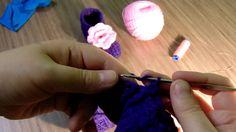 Вязание крючком пинетки тапочки часть 5.