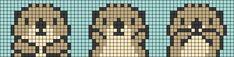 Alpha friendship bracelet pattern added by KrazyKnotz. Cross Stitch Bookmarks, Cute Cross Stitch, Cross Stitch Animals, Cross Stitch Designs, Cross Stitch Patterns, Melty Bead Patterns, Bead Loom Patterns, Beading Patterns, Pixel Art
