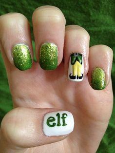 Elf adorable nail art Noel facile manicure Noel