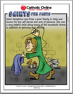 Learn fun facts about St. All facts are in comic strip style. Catholic Saints, Roman Catholic, Saints For Kids, Christian Comics, Lives Of The Saints, Catholic Online, Praying The Rosary, Divine Mercy, Religious Education