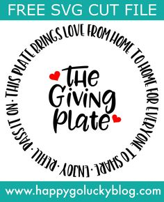 This fun Giving Plate makes the best gift especially when it's filled with delicious baked goods! Use the FREE cut file to create your own giving plate. Cricut Christmas Ideas, Christmas Vinyl, Merry Christmas, Christmas Plates, Christmas Crafts, Xmas, Christmas Decorations, Christmas Ornaments, Cricut Craft Room