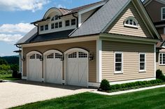 Triple Garage Doors - Crisp Architects