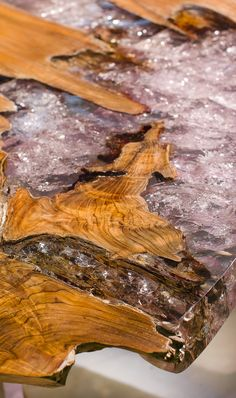 SDA's innovative Wood & Ice Material...The unusual association of Teak Root and Resin, a surprising contrast of material for a stunningly luxurious effect (tabletops, stools and wall panels come in this material). For more inspirations: www.bocadolobo.com home furniture, designer furniture, inspirations ideas, exclusive furniture, design ideas, home decor ideas, interior design ideas