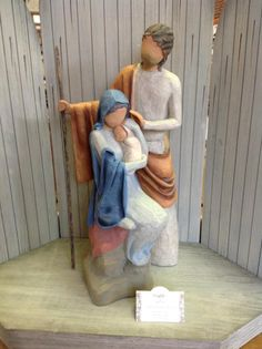 I have this ,Jesus,Mary and Joseph set. it was a beautiful gift. True Meaning Of Christmas, Merry Christmas To All, Christmas Makes, Christmas Holidays, Christmas Decorations, Christmas Nativity Set, Nativity Sets, Willow Tree Art, Jesus Mary And Joseph