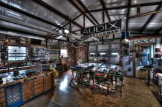 Wood Shop View #3 with 4 x 8 assembly table and drawers | Flickr