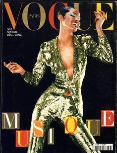 Georgianna Robertson en Jean Paul Gaultier photographiée par Jean-Baptiste Mondino pour la couverture du numéro de décembre-janvier 1996 de Vogue Paris