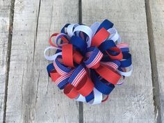 A personal favorite from my Etsy shop https://www.etsy.com/listing/529265067/4th-of-july-hair-bows-discounted-bows