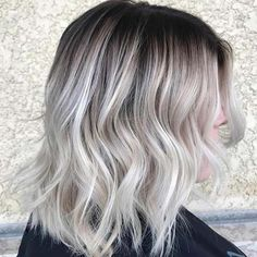"Opal "" grey blonde, light ash blonde, silver blonde, silver hair, a Black Hair With Blonde Highlights, Ash Blonde Hair, Platinum Blonde Hair, Platinum Highlights, Light Ash Blonde, Blonde Brunette, Hair Highlights, Looks Chic, Girl Haircuts"