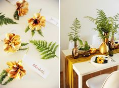 gold #flowers for the #wedding