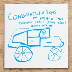 Driving Test Handprinted Card by ARTHOUSE Meath