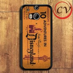 Disneyland Ticket Iphone Case Samsung Case HTC One M8 Black Case