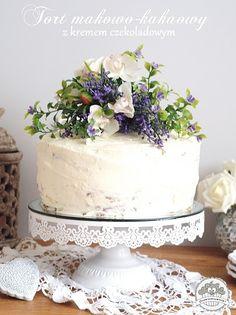 Pyszny tort makowo - kakaowy z kremem czekoladowym. Naked cake.