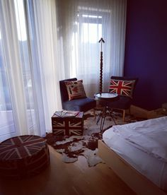 Themed room 'Union Jack' #vintage #unionjack #greatbritain #guesthouse #themedroom #hotelroom #bedandbreakfast #comeandstaywithus #creative