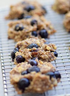 Gluten Free Banana Blueberry Cookies ~ Cookies for breakfast? Oh yeah! With these healthy breakfast cookies, you'll start your day deliciously ... and nutritiously!