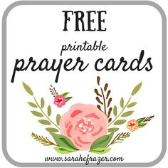 FREE printable prayer cards. Great for your journal and encouragement for daily guidance and strength.